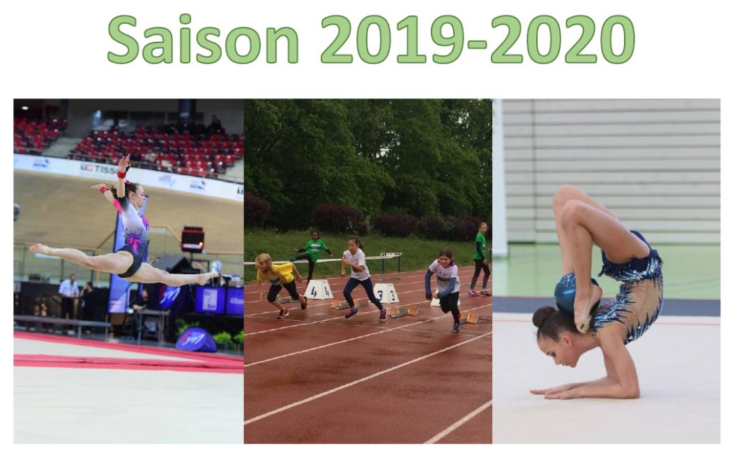 Horaires des cours pour la saison 2019-2020